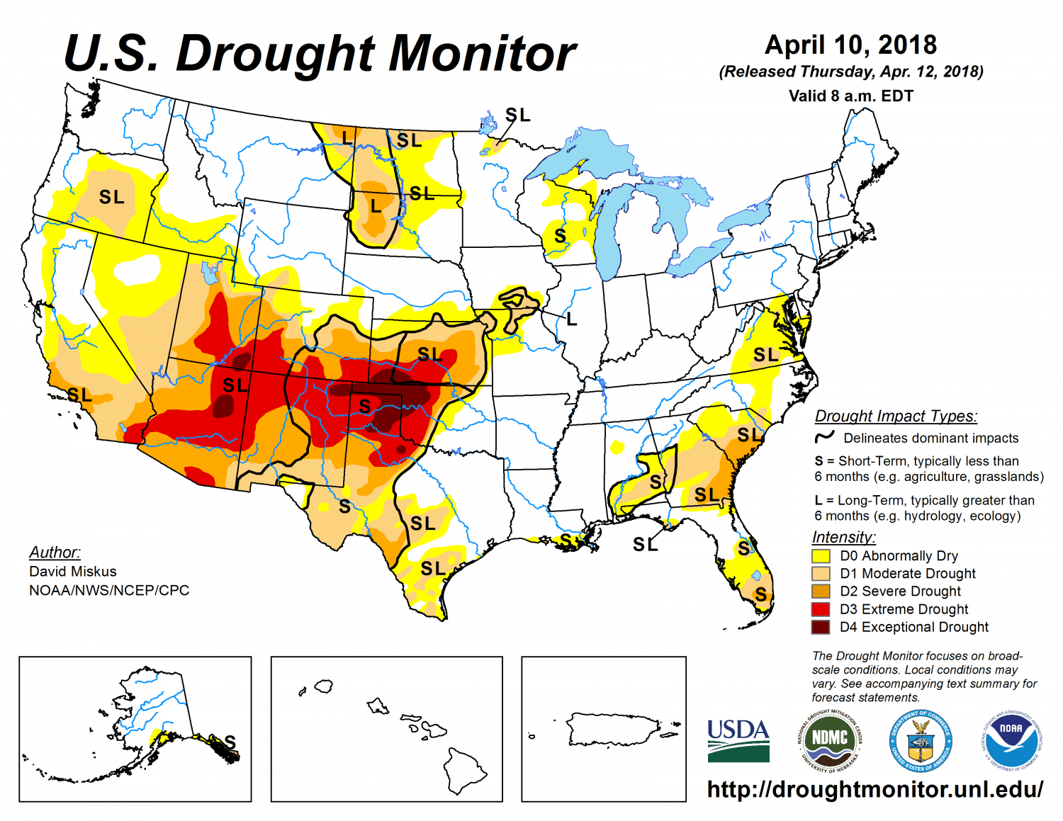 Drought Monitor 4-10-18