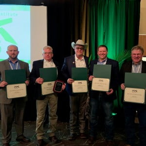 Pictured from left to right: Eric Turpen, Sheldon Snyder, ALC, George Clift, ALC, Jeff Moon, ALC (AgWest Land Brokers) and Greg Good